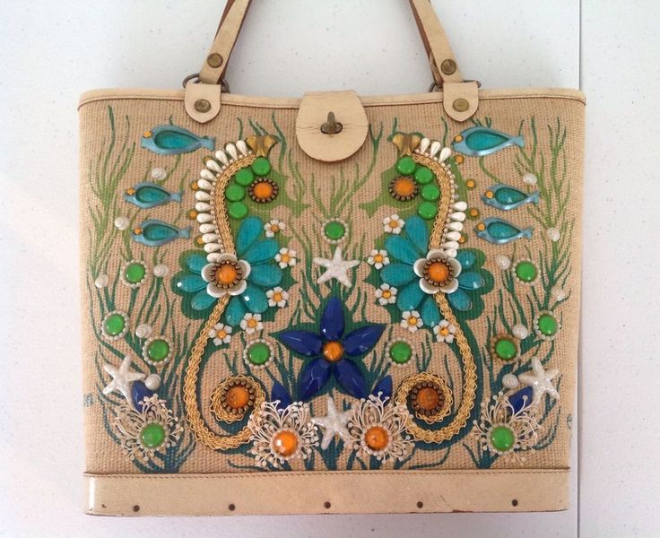... bag  coupon code dfcdc 45d71 Enid Collins Of Texas Sea Garden II Vintage  Beaded Purse Wooden RARE  ebay 3be50 73964 Spring Summer 2017 ... 559f114f1c