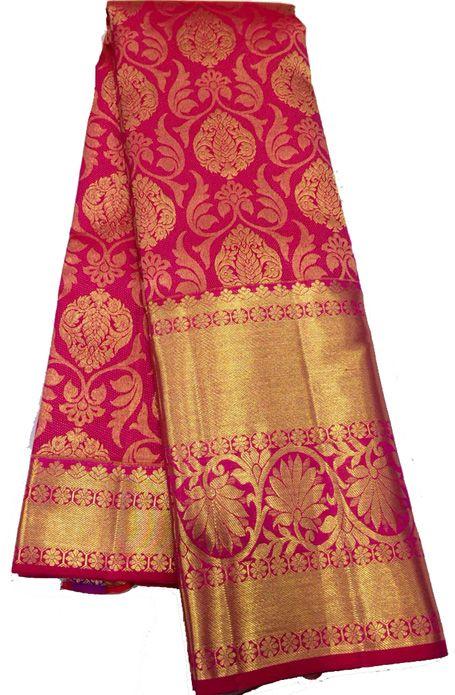 Pink Handloom Kanjeevaram Silk   Saree