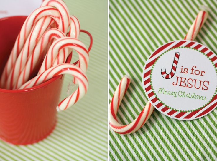 J is for Jesus - Candy Cane idea - place one at each table setting OR as a party favor for kids.