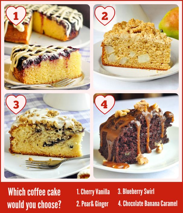 Brunch is a specialty on RockRecipes.com and we have quite a number of recipes for scrumptious coffee cakes to serve at yours...but which one would you choose. Click through for a selection of our best coffee cake recipes.