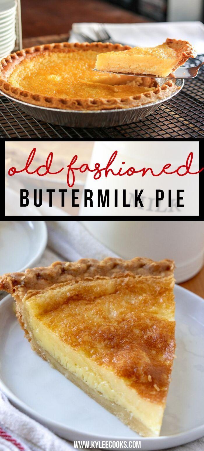 Old Fashioned Buttermilk Pie Buttermilk Pie Buttermilk Pie Recipe Southern Buttermilk Pie
