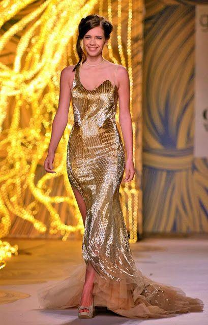 #KalkiKoechlin in Dazzling Golden #Gown