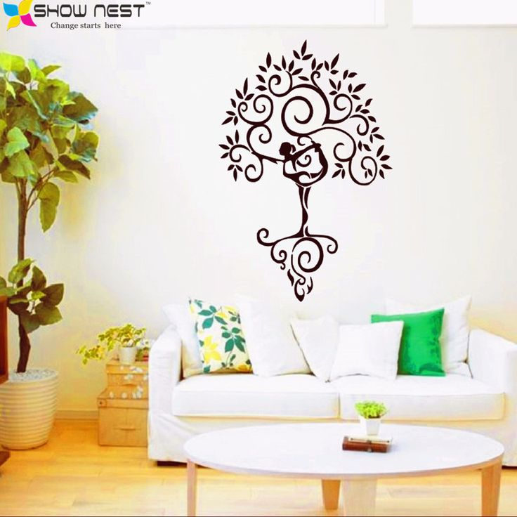 Cheap Wall Decals And Stickers, Buy Quality Sticker City Directly From  China Wall Stickers Baby Room Suppliers: 2016 New Yoga Tree Zen Big Large  Wall ... Part 95