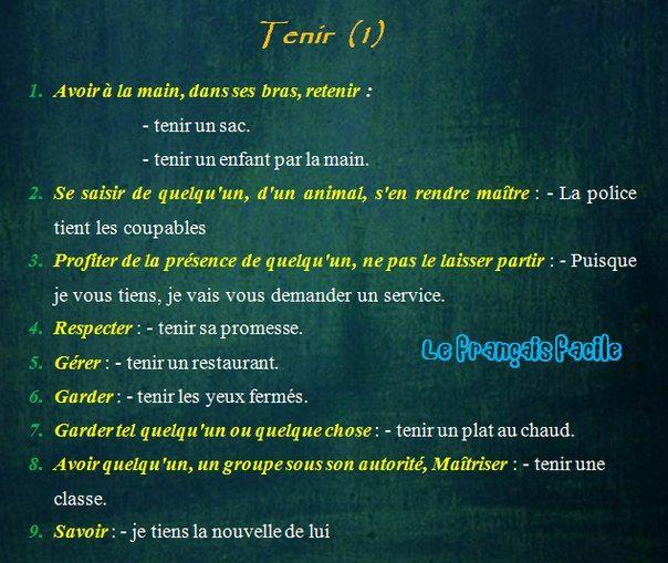 TENIR #tenir #B1 #B2
