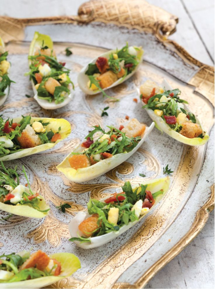Cheers to the New Year with our festive recipes! Caesar Salad Bites - victoriamag.com