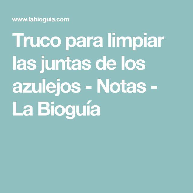 Truco para limpiar las juntas de los azulejos - Notas - La Bioguía