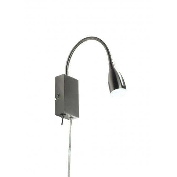 LED Wall Reading Light, Flexible Arm, Plug In or Directly Wire