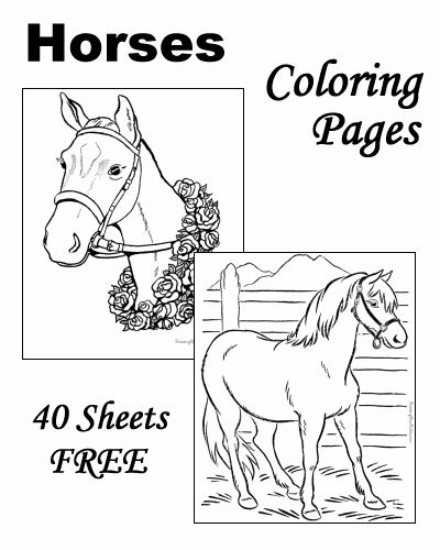 Horse Coloring Pages! ....also tons of other really nice coloring pages on this site