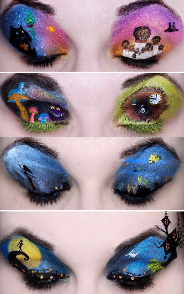 Disney makeup. This is for you Devan Gardner... And yes Sandi Cullimore I will help you do this on yourself.