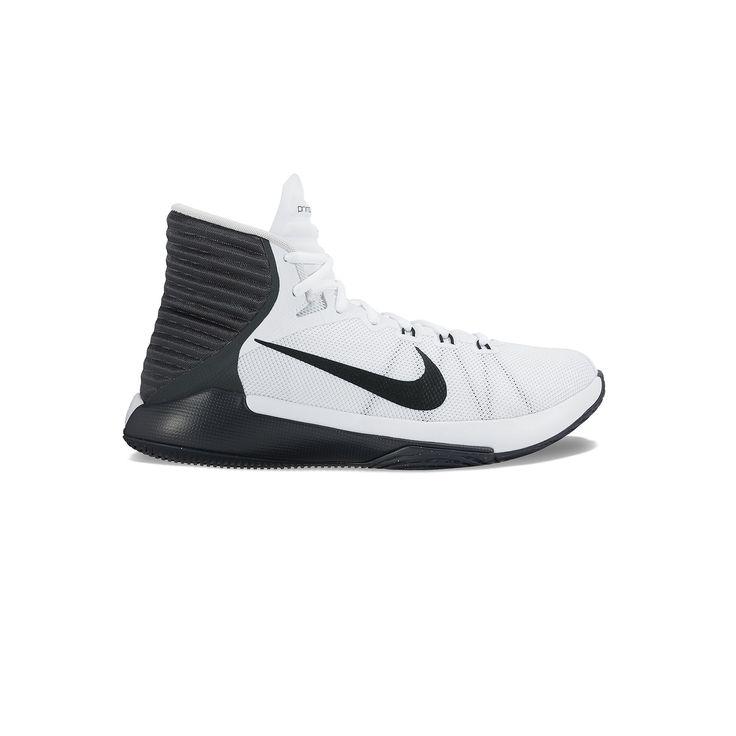 Nike Prime Hype DF 2016 Men's Basketball Shoes, Size: 15, White