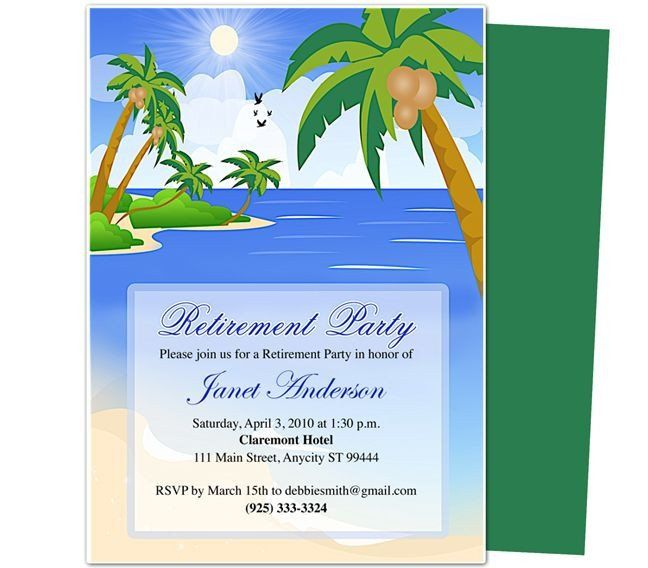 Retirement Invitation Template Free Retirement Templates Paradise Retirement Retirement Invitation Template Party Invite Template Retirement Party Invitations