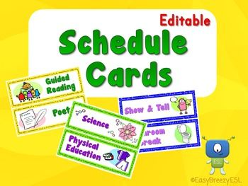 62 Schedule Cards (EDITABLE)