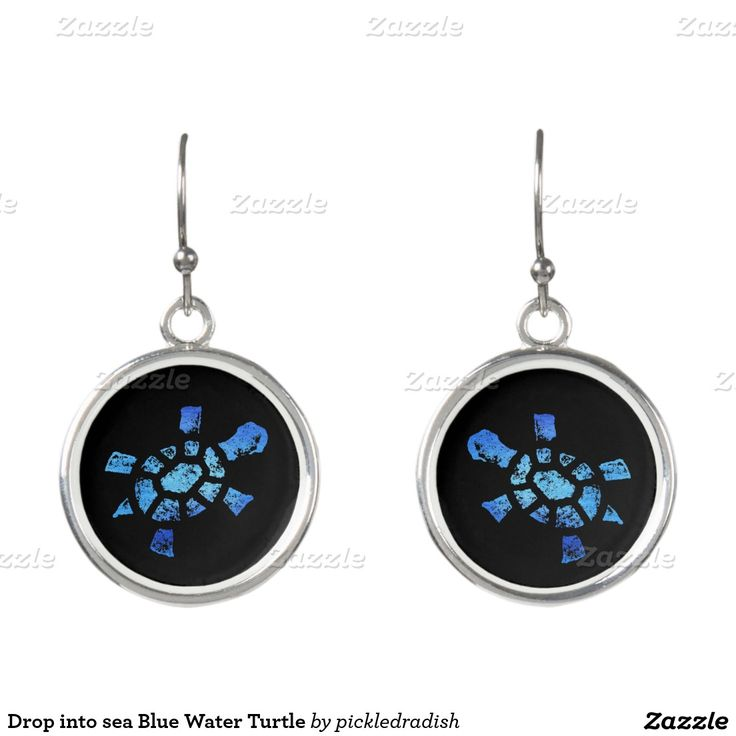 Drop into sea Blue Water Turtle Earrings. Regalos, Gifts. #DiaDeLasMadres #MothersDay
