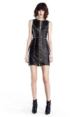 Versace - GLAM-ROCK LEATHER DRESS