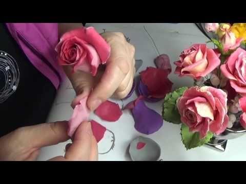 сборка розы из Silk Clay от Риты (то что было не видно:)) Ч.2 - YouTube