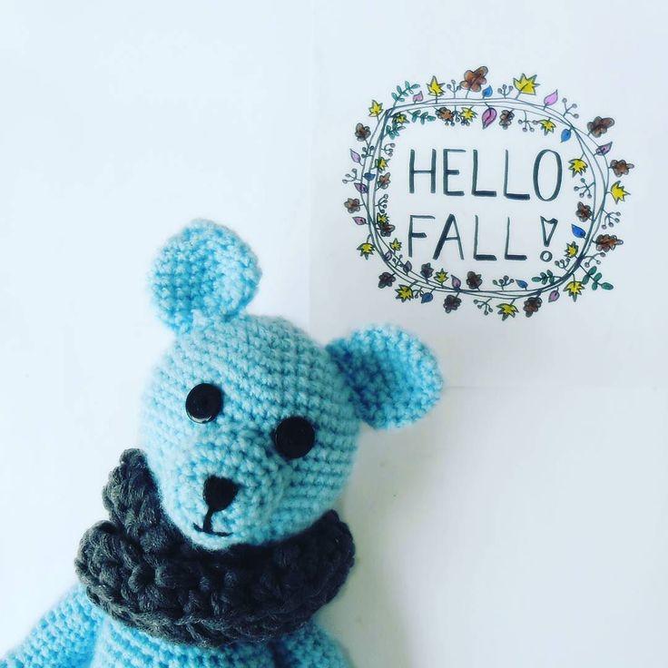 Witamy jesień  #fall #autumn #hellofall #leves #dndchallenge #fallingawrachallenge #handlettering #doodles #drawing #wreath #teddybear #StefanMiś #crochet #crochettoy #nurserydecor #sharkskin #cowl #GawraStefana