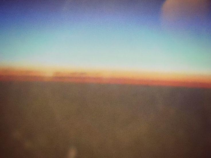 In volo, ritorno, tramonto
