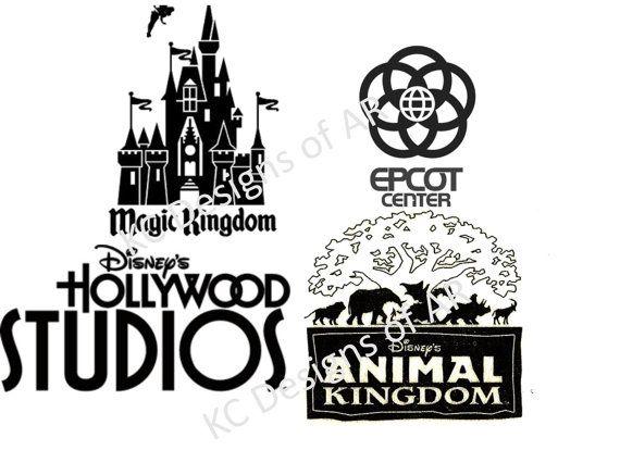 Walt Disney World Park logos SVG files for cutting