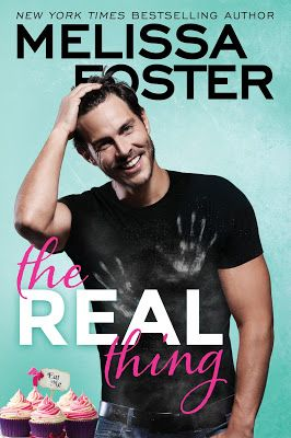 This sassy, spirited baker is fine with heat— but is her fake fiancé too hot to handle?   THE REAL THING Sugar Lake #1 Melissa Foster Releasing Sept 5, 2017 Montlake  Bakery owner Willow Dalton's friendship with Zane Walker has always been a  bit complicated. Now a scrumptiously hot A-list ac