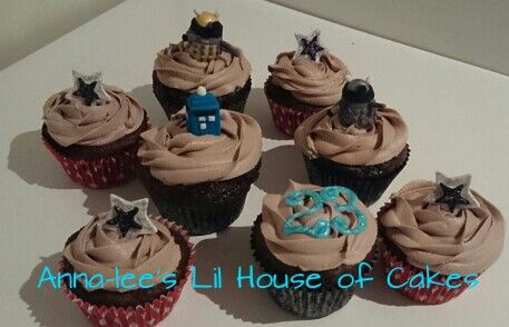 Dr who birthday  cupcakes