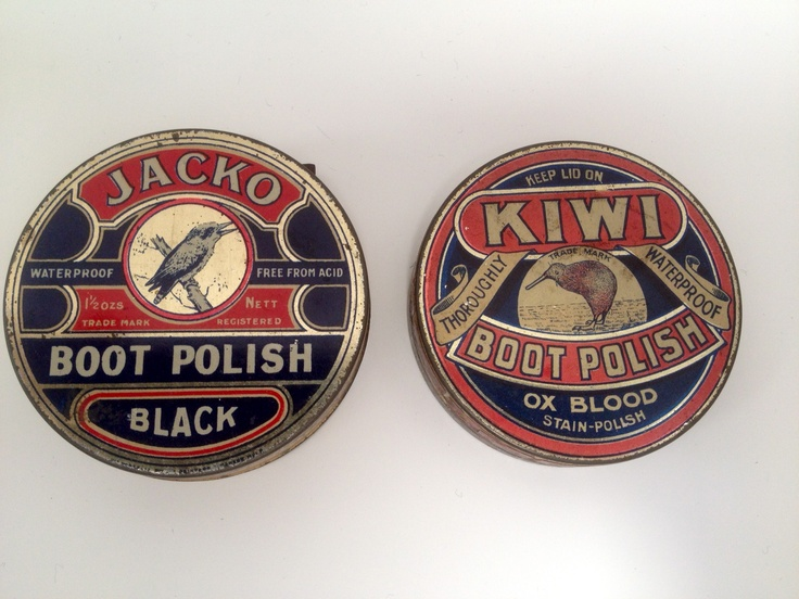 Kiwi and Jacko boot polish tins - circa 1914. Many leading Australian brands from this era used native Australian animals and icons in their beautifully illustrated logos. For those interested in the history of Australian brands there's a terrific book - 'Symbols of Australia', by famous graphic designer Mimmo Cozzolino that contains a wide selection of iconic Australian brand logos.