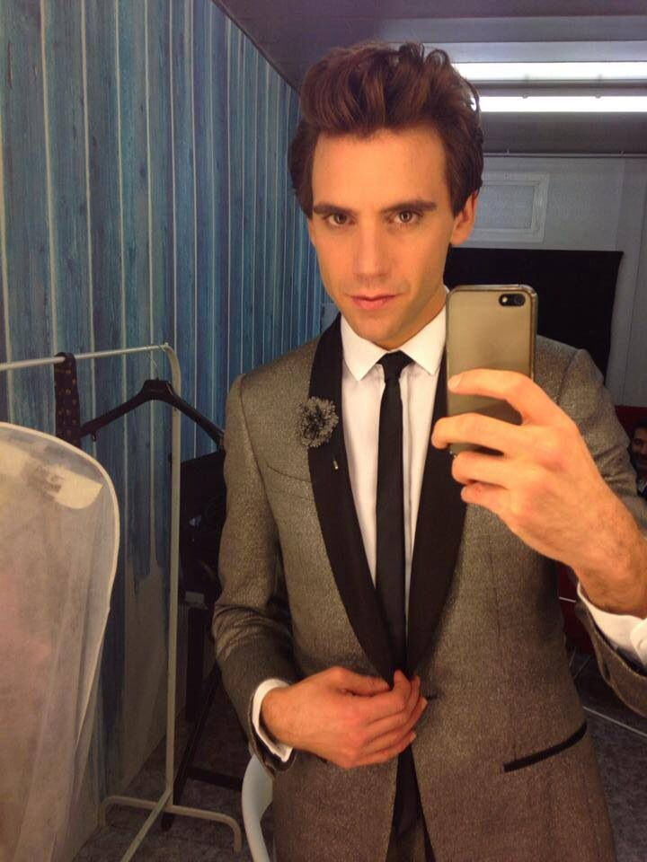 X Factor Italia. Mika in the dressing room before the show. 14Nov2013