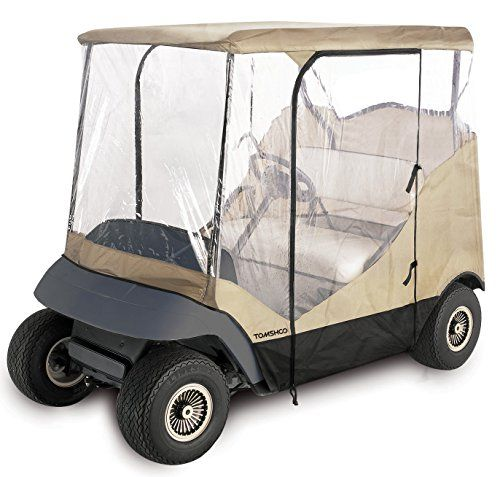 Best Golf Bags   TOMSHOO 4Sided Golf Cart Cover Enclosure for 2Person Fairway Golf Car >>> Details can be found by clicking on the image. Note:It is Affiliate Link to Amazon.