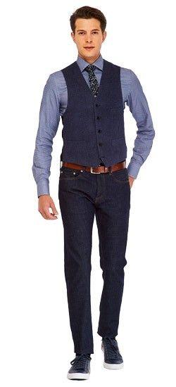 Luxury Denim Blue Vest