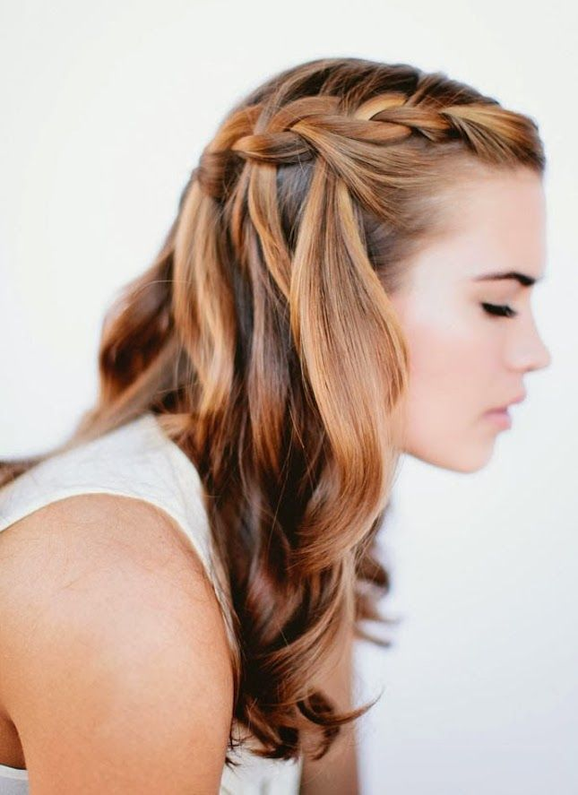 While you're stuck inside during a rainy day or snow day, save this to get endless inspo for upgrading your hairstyle in 5 minutes or less with these simple hairdo tutorials, like this waterfall braid.