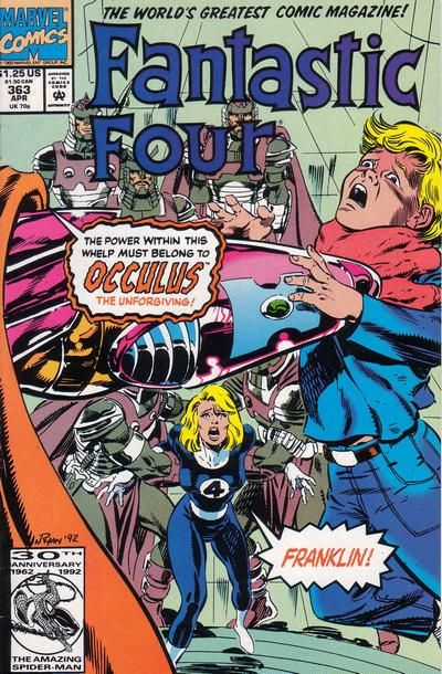 Fantastic Four #363. The less-than-menacingly-named Occulus.  #Fantastic Four #Occulus