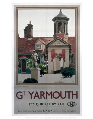 #Yarmouth #Vintage #Rail #Railway #Train #Poster #Posters #Prints #Print #Art…
