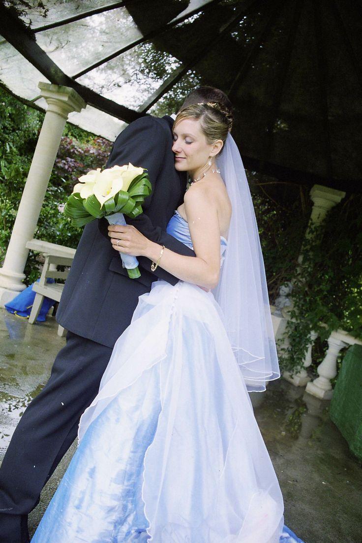 Just married in Parkside Gardens Oamaru New Zealand.