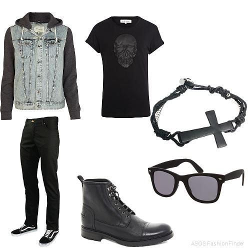 Brown combat boots fall outfit