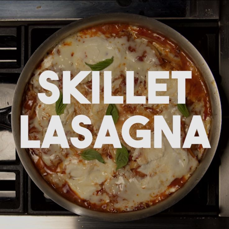 Lasagna has never been easier now that you can make it all in one-skillet atop your stove. Hello easy delicious dinner.