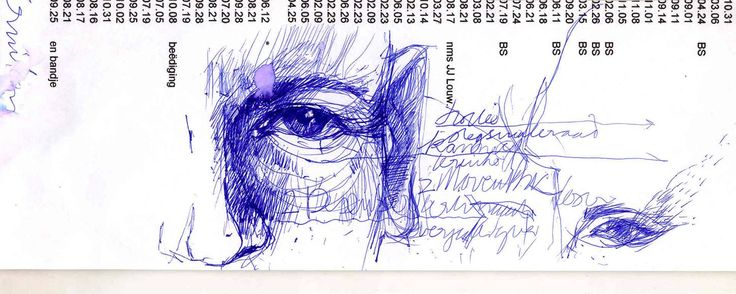 ballpoint on meeting minutes A4