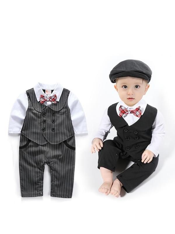29628eaaf Snaps Romper Jumpsuit Party Wear Suit Hat 2-Piece Set for Baby Boys ...