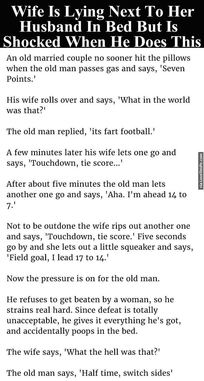 Wife Is Lying Next To Her Husband In Bed But Is Shocked When He Does This funny jokes story lol funny quote funny quotes funny sayings joke hilarious humor stories marriage humor funny jokes