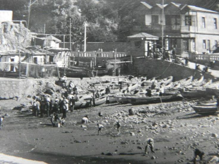 postal-caleta-de-membrillo-valparaiso-chile-siglo-20