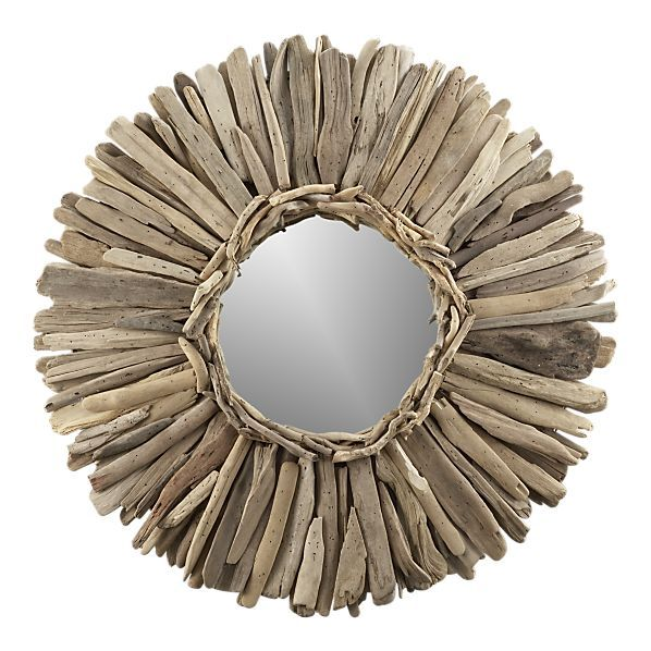 how to make a mirror frame out of driftwood
