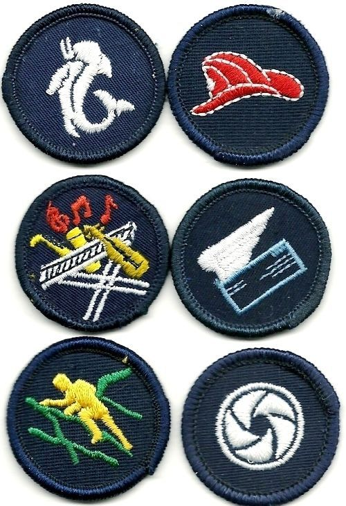 CANADIAN GIRL GUIDES PATCHES  -  LOT F, 6 MINT BADGES  ALL DIFFERENT
