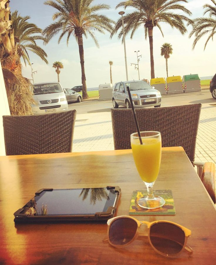"""The view from the """"office"""" today. No it's not Costa Coffee today, but Costa Dorada. It's half term so I am spending a little bit of my matched betting earnings on a holiday :) To find out more about what I do, check out the link on my bio.  Enjoy your half term breaks, whatever you decide to do :) #mumswhomatchbet #matchedbetting #sahm #sahmlife #sahmlifestyle #digitalnomad #laptoplifestyle #makemoneyfromhome #workanywhere"""