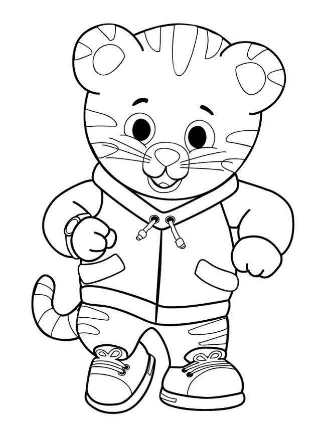 Daniel Tiger kids coloring pages