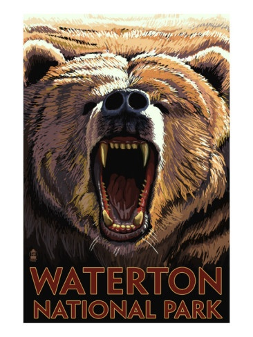 Waterton National Park, Canada, poster