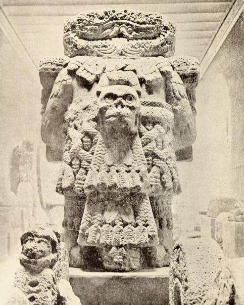 'Coatlicue', diosa azteca. México / muerte, arqueología, antique