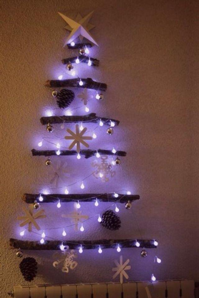 Idea fácil y simple de impregnar el espíritu navideño en el jardín o terraza!!