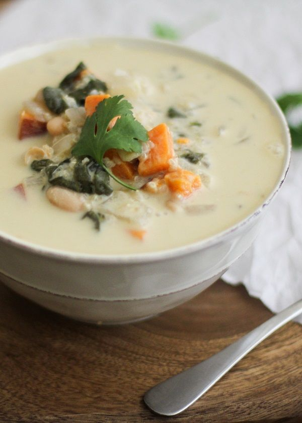 Sweet Potato Quinoa Stew #vegan #vegetarian #healthy #soup
