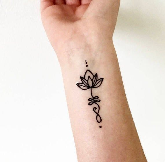 Unalome Lotus Temporary Tattoos Henna Tattoo Hand Henna Tattoo Designs Henna Tattoo Designs Simple