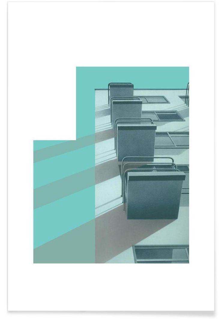 Bauhaus Blue Balconies of Visual Philosophy now on JUNIQE!