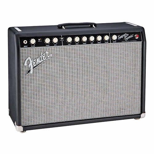 FENDER Super Sonic 22 Combo Tube Guitar Amp 22W Black w/4-Button Footswitch DEMO   Reverb