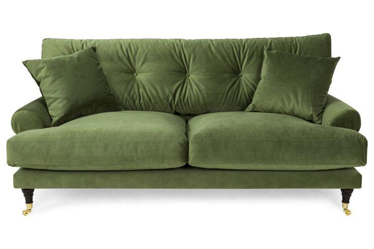 Köp Andrew 2-sits Soffa - Grön Sammet på Trademax.se! ✔ 400.000 nöjda kunder ✔ Alltid fri frakt & öppet köp ✔ Vinterkampanj - Välkommen till Trademax.se!
